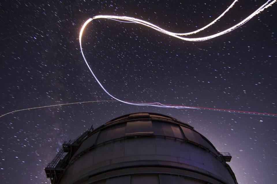 Живи метеори в метеоритния поток Персеиди