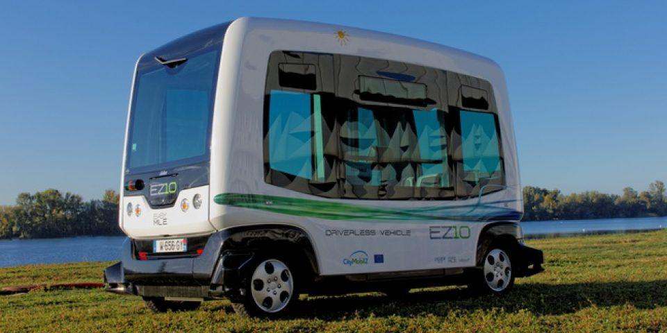 Париж тества електрически минибус