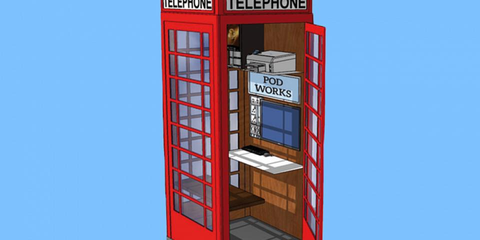 Лондонските телефонни кабини стават мини – офиси
