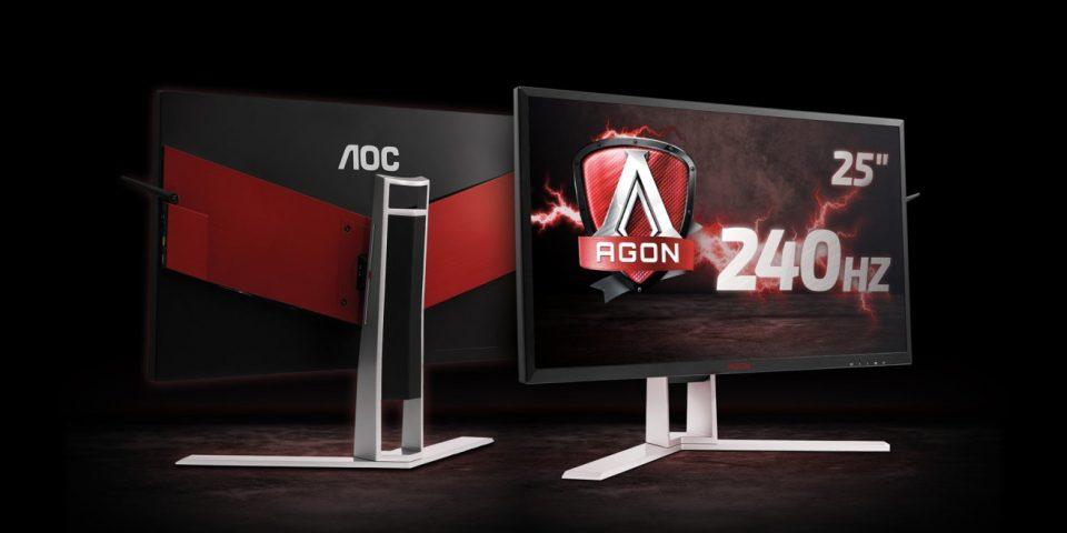AOC представя геймърски монитор от серията AGON с честота на опресняване 240 Hz
