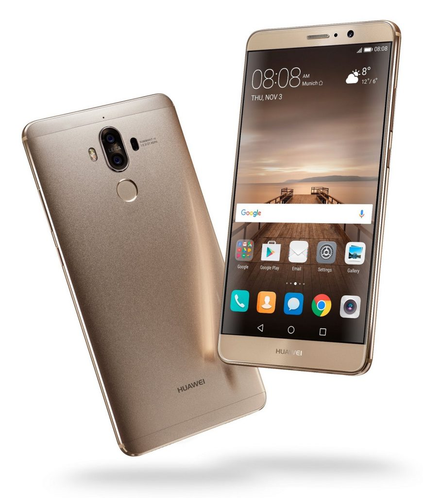 Huawei Mate 9_Champagne Gold Front & Back