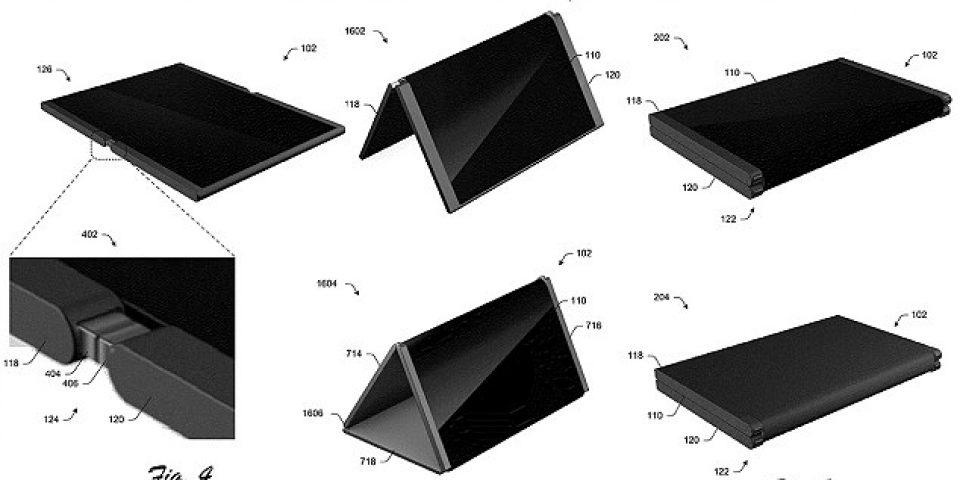 Microsoft патентова телефон, който се прегъва на половина