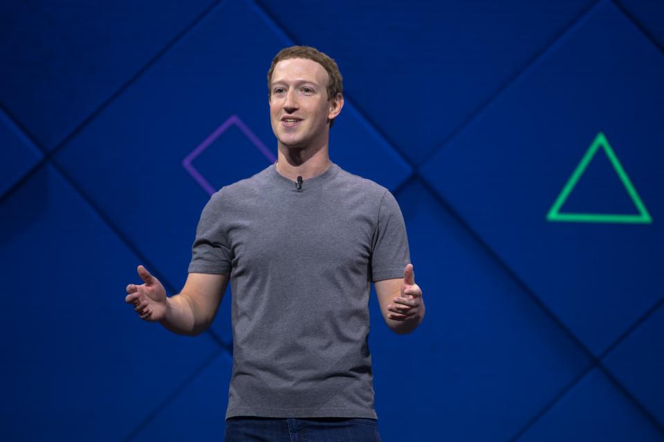 Mark Zuckerberg Facebook F8 social network