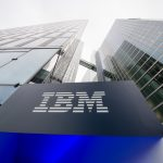 epa05110985 (FILE) A file photo dated 15 December 2015 showing the logo of IBM seen at the entrance to the Highlight Towers in Munich, Germany. Technology corporation IBM is to release their 4th quarter results on 19 January 2016.  EPA/MATTHIAS BALK