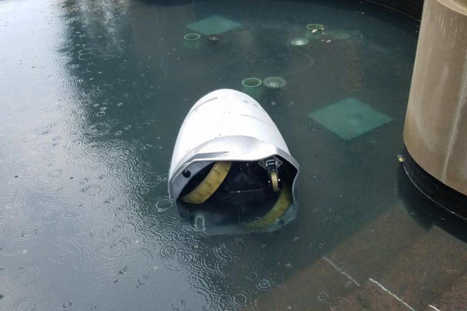 Робот – полицай се удави във фонтан