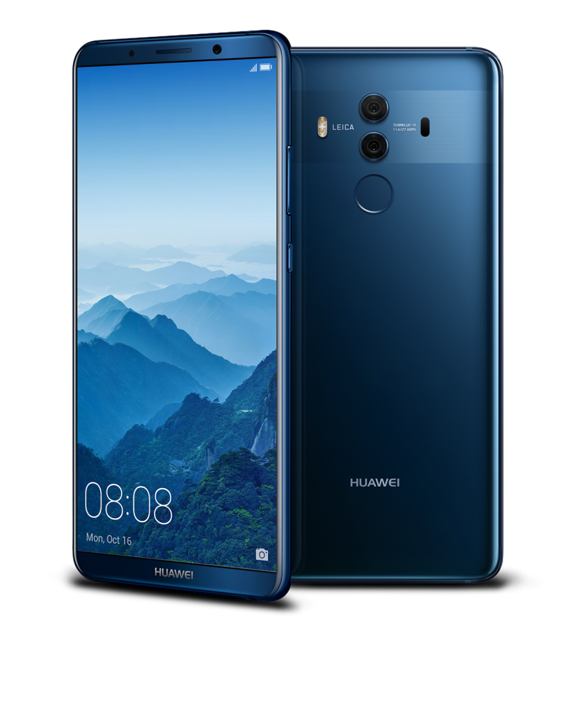 Mate 10 Pro_Blue Front and Back