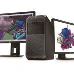 HP Z4 Workstation with dual HP Z24x Displays