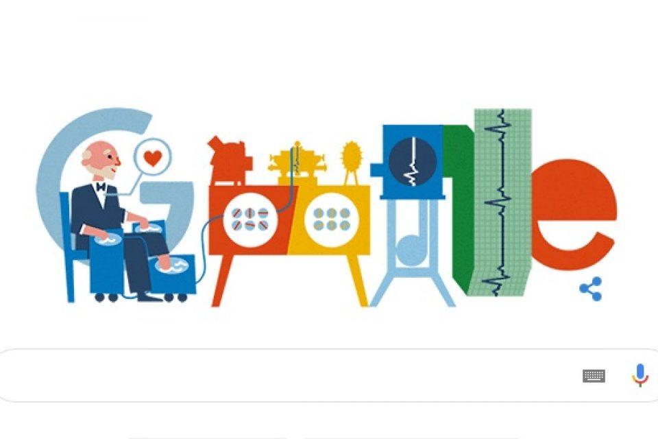 Google чества 159 години от рождението на Вилем Ейнтховен – създател на първия електрокардиограф в света