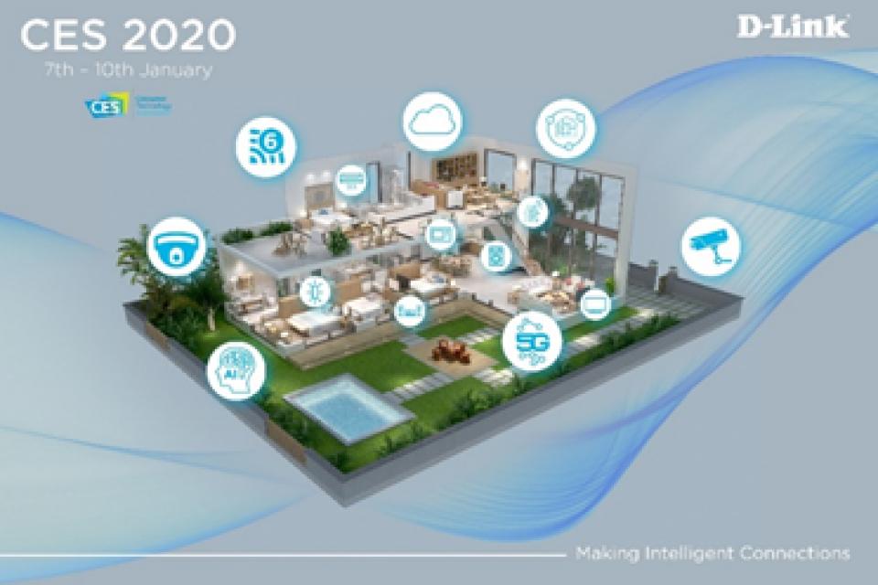 D-Link показва интелигентна свързаност на CES 2020