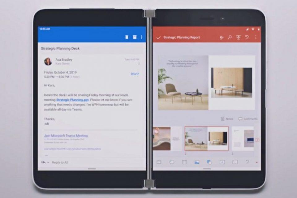 Microsoft Surface Duo ще дойде с функция за групиране на приложенията