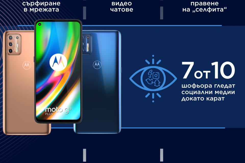 Motorola подарява 10 устройства Moto G10 Play в рамките на кампанията си за отговорно шофиране